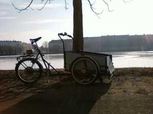 christianiabike lastcykel med elmotor och rullstolsramp