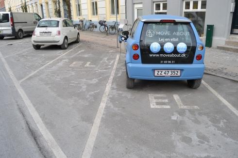 elbilar parkerings och laddningsplats