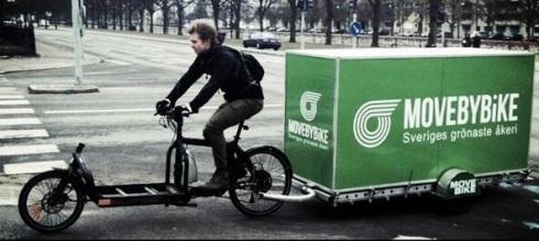 lastcykel och släp från movebybike